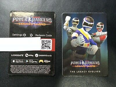 SDCC 2018 EXCLUSIVE Power Rangers Legacy Wars Promo Redemption Code Card