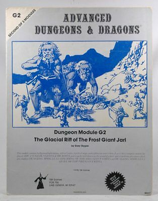 Dungeons and Dragons Advanced Dungeon Module G2 (The Glacial Rift of The Frost G