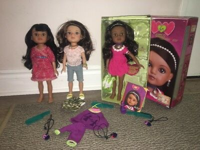 H4H Hearts For Hearts Doll Mosi, Dell, Nahji  Doll & Extra Clothes