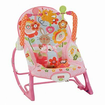Fisher-Price Infant-to-Toddler Rocker Sleeper, Pink Bunny Pattern  ~BRAND NEW~