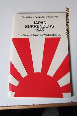 """JAPAN SURRENDERS 1945"" Paperback 44 Pages."