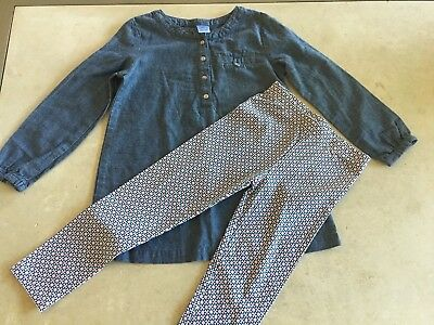 Carters Girls Toddler Size 4t 2pc Outfit Long Sleeve Tunic And Leggings NWOT