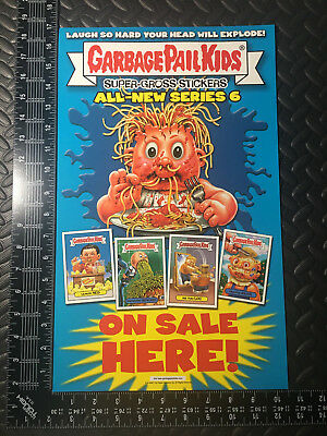 Garbage Pail Kids Ans6 2007 All-New Series 6 Unfolded Window Poster Ad Promo
