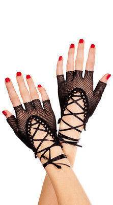 One Size Fits Most Womens Lace Up Gloves