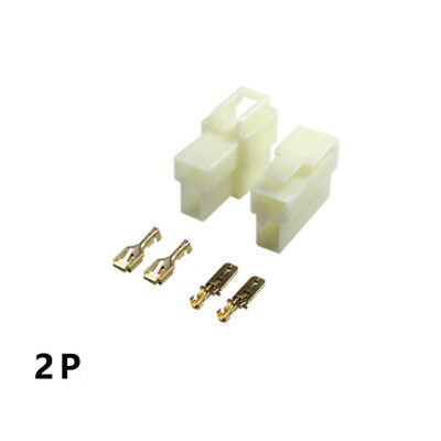 6.3mm 2 Way Pin Motorcycle Car Electrical Wire Plug Connector Terminal Block Kit
