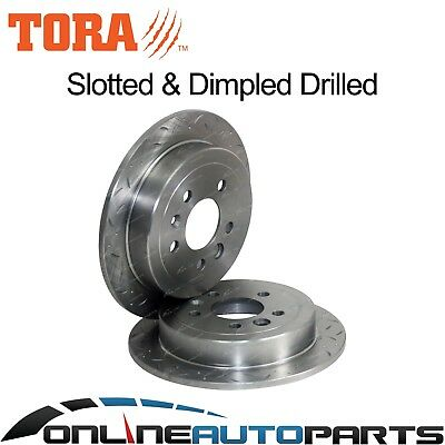 2 Rear Disc Brake Rotors Drilled + Slotted Ford Falcon AU 9/1998-4/2000 Series 1
