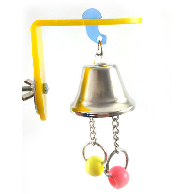 QA_ Pet Bird Parrot Small Animals Cage  Hanging Sound Bell Beads Biting Toy Se