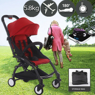 Compact Lightweight Baby Stroller Pram Easy Fold Travel Buggy Carry-on Plane
