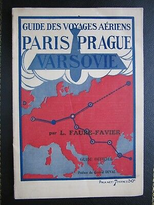 FRANCO ROUMAINE NAVIGATION AERIENNE guide air timetable 1925 route map france
