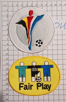 Patch Euro 2000 UEFA maillots foot + Patch Fair Play France Italie Portugal