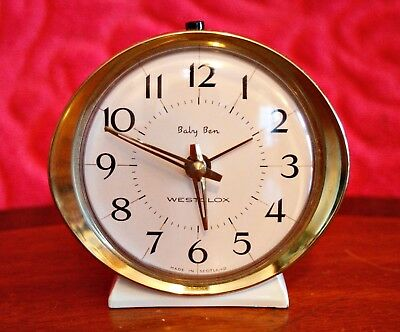 Vintage 'Westclox' Mechanical Alarm Clock, Made in Scotland