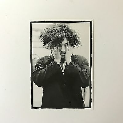 Rare Genuine 1986 The Cure Robert Smith 'Sick of it' B&W Photo Unused Postcard