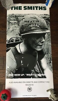 The Smiths new unused laminated poster 90cm x 43cm morrisey meat is murder indie