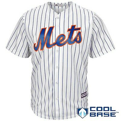 New York Mets Majestic Athletic Cool Base Home Baseball Jersey