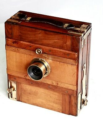 French Wooden camera antique, 1905 ca