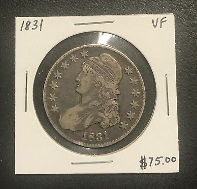 1831 U.s. Capped Bust Half Dollar ~ Vf Condition! $2.95 Max Shipping! C253