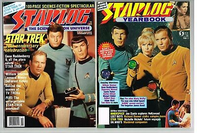Star Trek Movie Mag Lot Starlog Yearbook 1987, #112, 212, Sci-Fi Universe #16