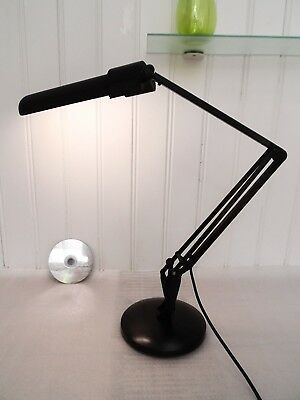 80s 90s ANGLEPOISE DESK LAMP, Vintage BLACK 90PL MODEL Retro TABLE READING LIGHT
