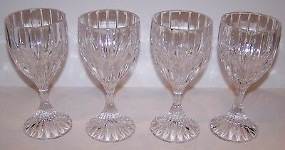"Lovely Set Of 4 Mikasa Crystal Park Lane 6 3/8"" Wine Glasses"