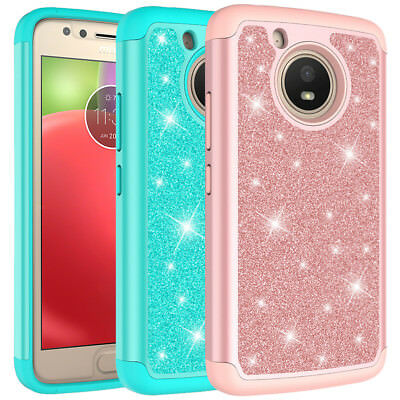For Motorola Moto G5 Case, Glitter Bling Hybrid Shockproof Protective Cover