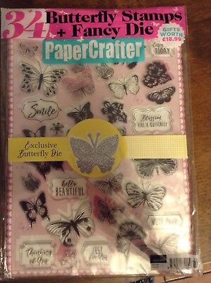 PaperCrafter magazine issue 122 with 34 Butterfly Stamps and fancy die