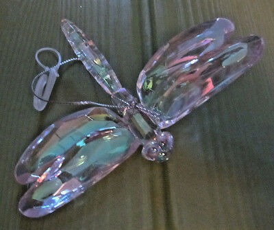 Pearl White Dragonfly Christmas SPRING EASTER Rainbow DECOR ORNAMENT Hanging Bug
