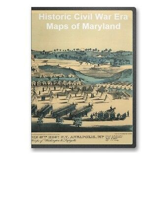 60  Rare Historic Civil War Maps of Maryland MD -  CD - B7