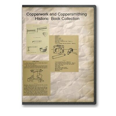 Copperwork and Coppersmithing Instruction; Designs - 7 Historic Books CD - B515