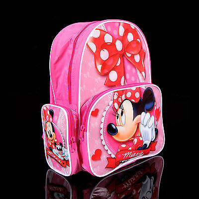 Brand new kids toddlers Minnie Mouse backpack school bag Free Shipping