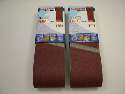 Silverline Sanding Belts 5pk 80 Grit fits 50 x 686mm same day dispatch