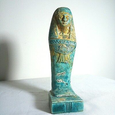 ANCIENT EGYPTIAN ANTIQUE USHABTI Statue Shabti Artifact 1714-1520 BC