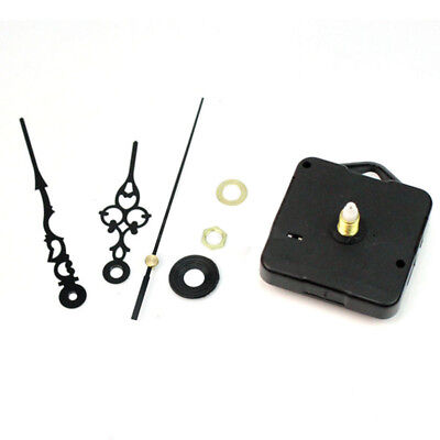QA_ Retro Black Hands Quartz Wall Clock Movement Mechanism Parts Repair Tool S