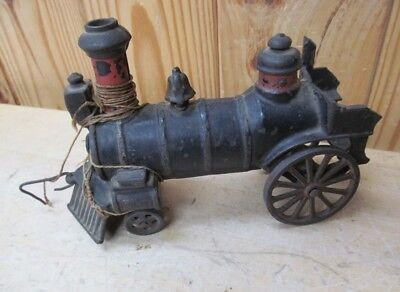 Rare Antique Cast-Iron Model Train Pull Toy (early 1900s)
