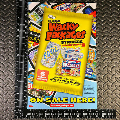 Wacky Packages Ans2 2005 All-New Series 2 Unfolded Window Poster Ad Promo
