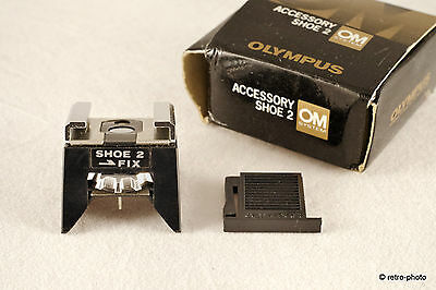 Genuine Olympus Accessory Shoe Type 2 with dust cover and original box