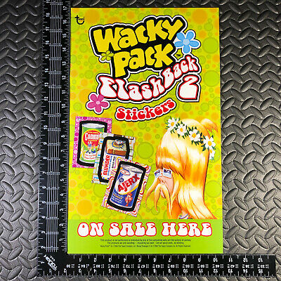Wacky Packages Fb2 2008 Flashback Series 2 Unfolded Window Poster Ad Promo