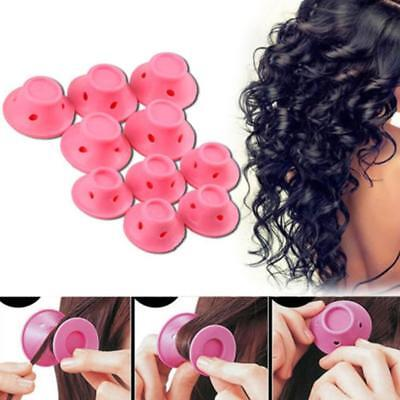 10X Silicone Hair Curler Magic Hair Care Rollers No Heat Hair Styling_Tool