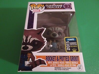 Marvel Guardians of the Galaxy SDCC Exclusive Rocket & Potted Groot Funko Pop