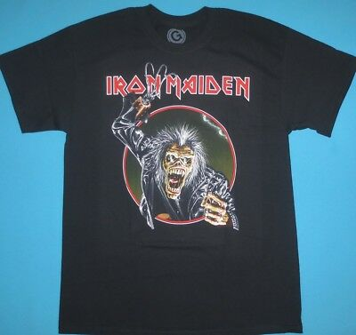 506f735c IRON MAIDEN EDDIE Hook Bleached T-Shirt Tee Rock Band Metal Official ...