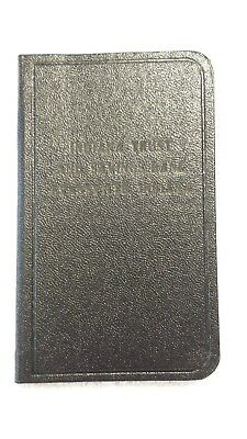 1940s Account Book Leather Indiana Trust & Savings Bank Evansville UNUSED SAMPLE