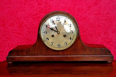 Vintage Art Deco German  8 - Day Mantel Clock with Chimes