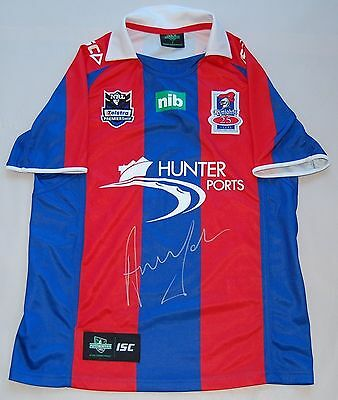Newcastle Knights Andrew Johns Hand Signed Official Nrl Jersey Limited Edition