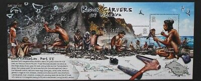 PITCAIRN ISLANDS 2005 Rock Carvers of Pitcairn. SOUVENIR SHEET MNH SGMS733