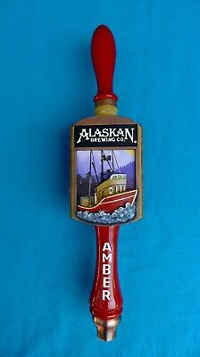 "ALASKAN BREWING Co. Amber BEER TAP HANDLE- Brand-New, 12.5"" Tall; FREE SHIPPING"