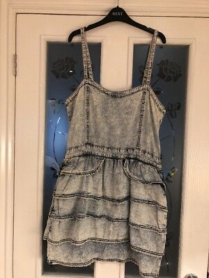 Ladies Clothes Size 14 Asos Influence Washed Denim Dress
