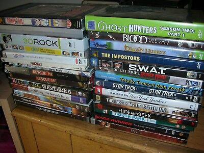 LOT DVDS TV shows ghost hunters 30 rock swat blade runner rescue me  hoodwinked