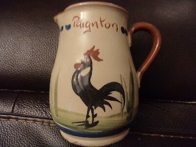 rare Longpark Potter jug motto black cockerel Paignton shallow brooks are noisy