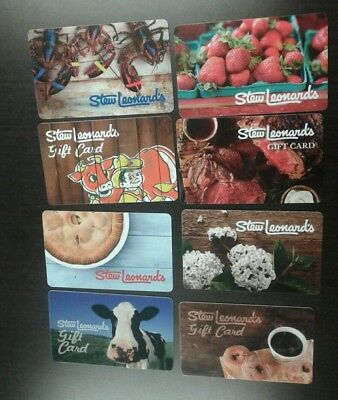 8 Stew Leonard's Gift Cards, Beautiful, Collectible, Mint