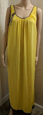 Vintage Lane Bryant Womens Nightgown with Robe Size 1X Yellow Brown