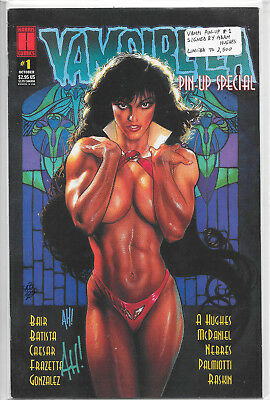 Vampirella Pin-Up Special #1 Dynamic Forces Signed By Adam Hughes VF/NM